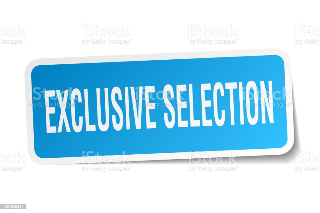 exclusive selection square sticker on white royalty-free exclusive selection square sticker on white stock vector art & more images of badge
