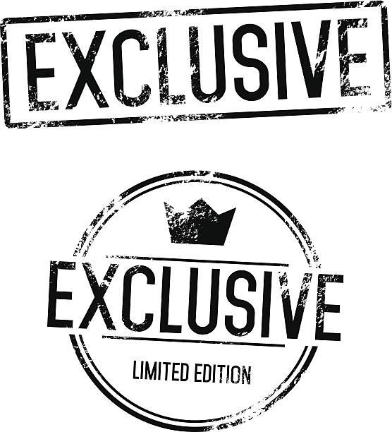 stockillustraties, clipart, cartoons en iconen met exclusive vector stamp - exclusief