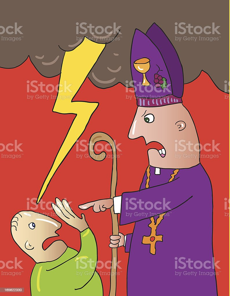 excommunication royalty-free stock vector art