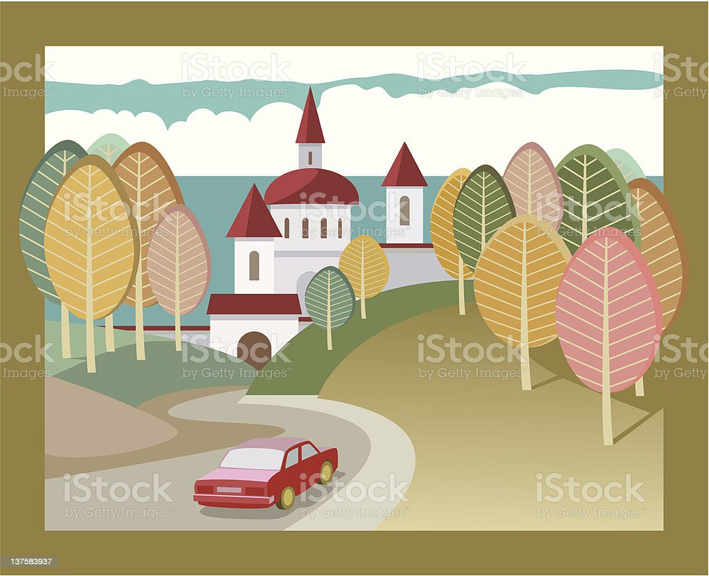 Excursion royalty-free stock vector art
