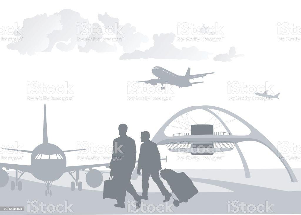 Executive Flights vector art illustration