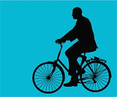 Executive on Bike ( Vector )