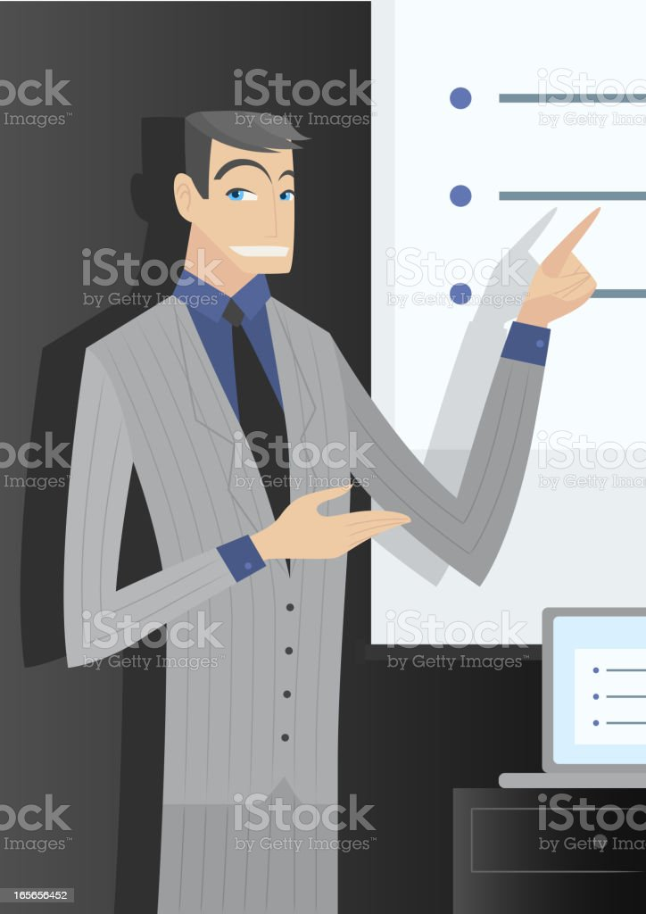 Executive presentation royalty-free stock vector art