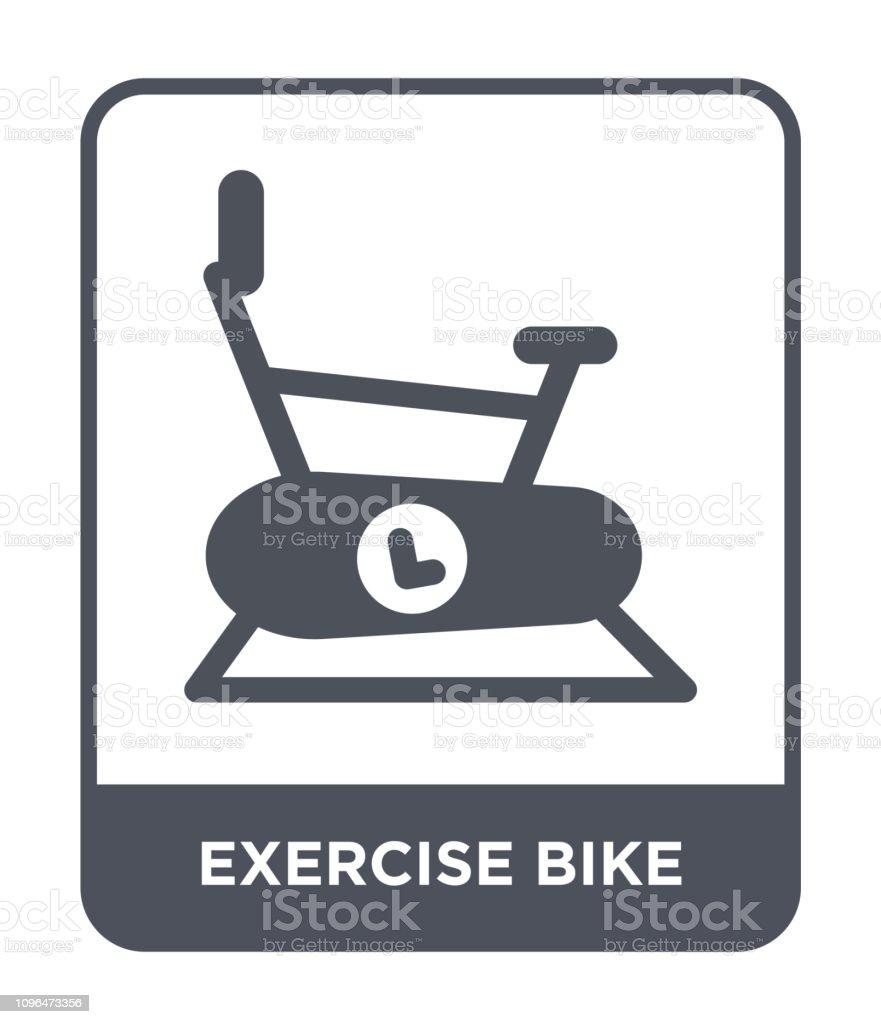 exercise bike icon vector on white background, exercise bike trendy...