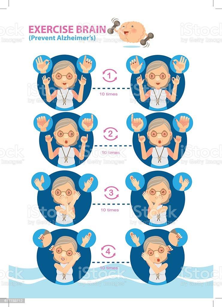 Exercise Brain - Illustration vectorielle