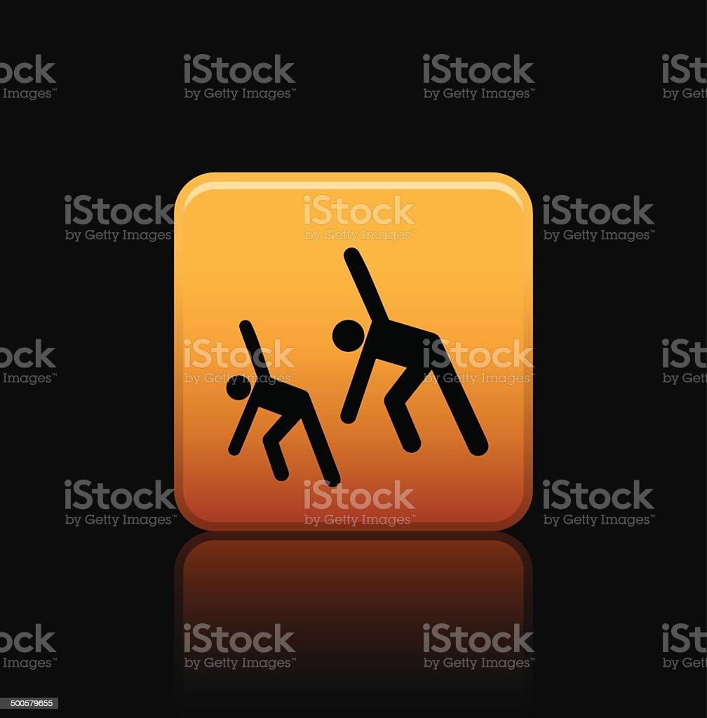 exercise button icon vector art illustration