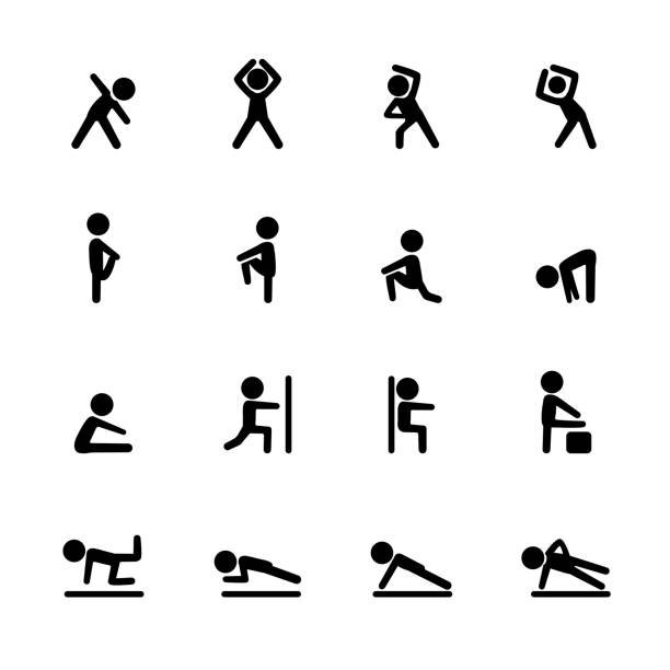 Sport Fitness-Icon-Set, Vektor-eps10 – Vektorgrafik
