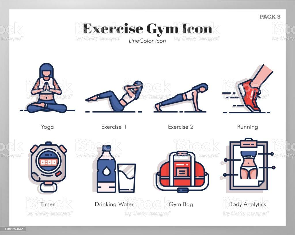 Exercise gym vector illustration in line color design