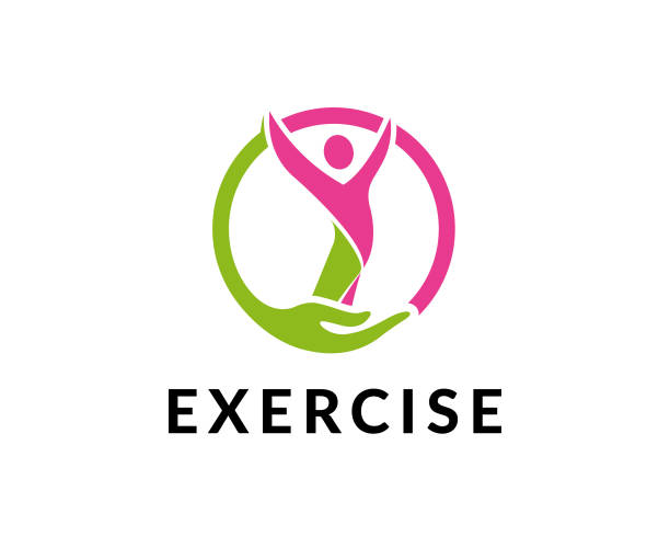 exercise gym vector icon - personal trainer stock illustrations, clip art, cartoons, & icons