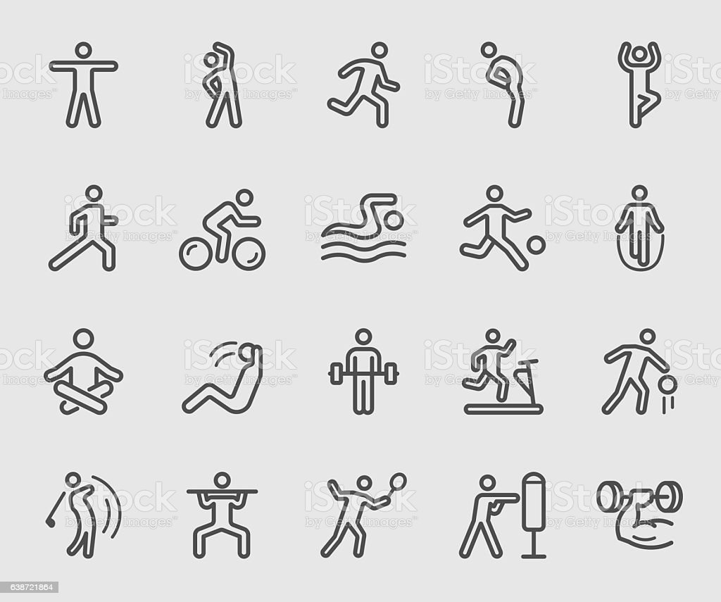 Exercise line icon ベクターアートイラスト
