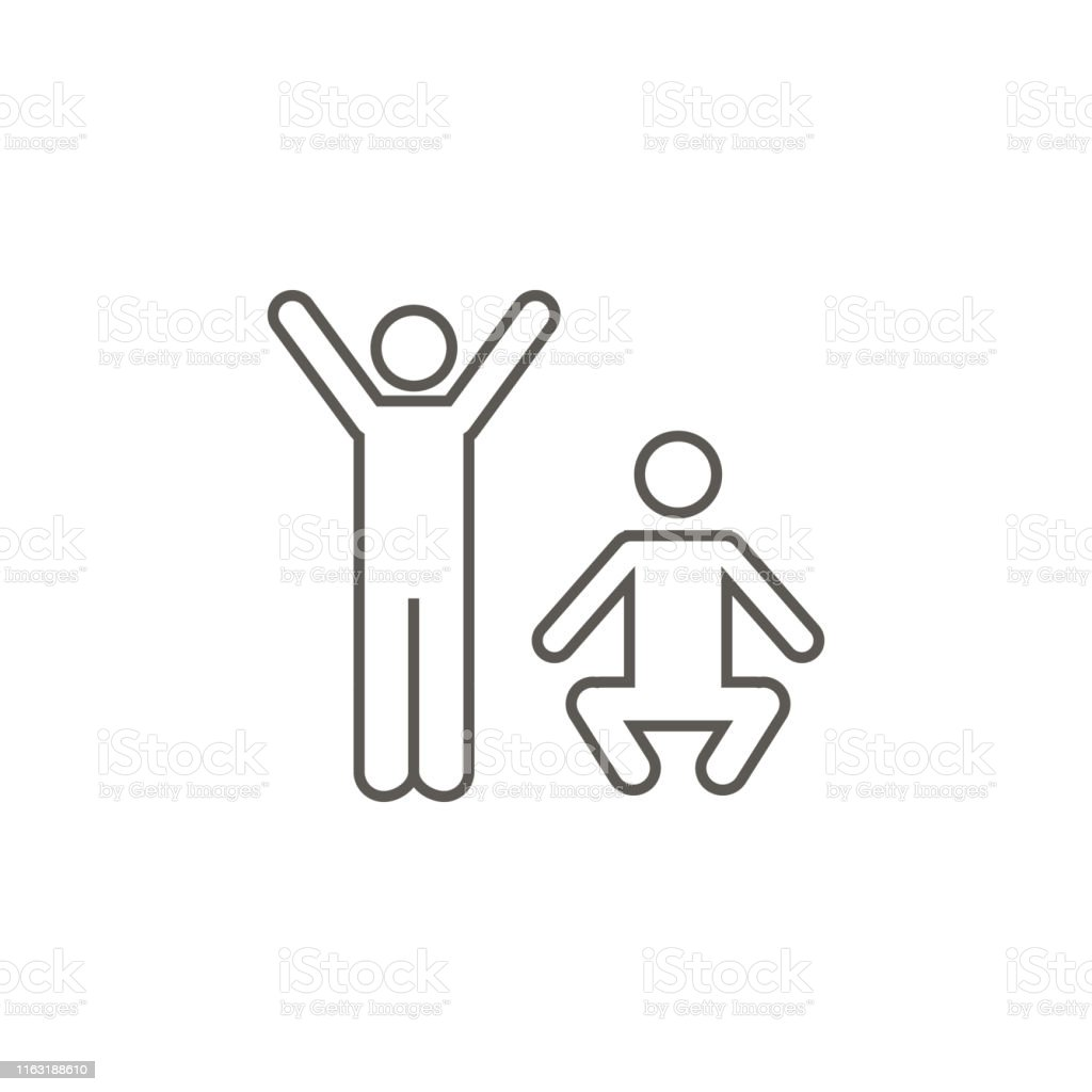Exercise, mans vector icon. Simple element illustration from map and...