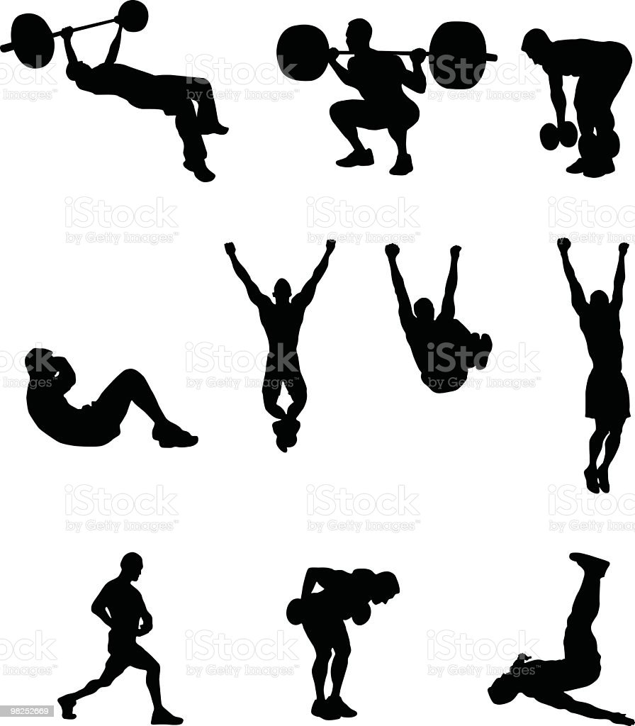 Exercise people vector art illustration