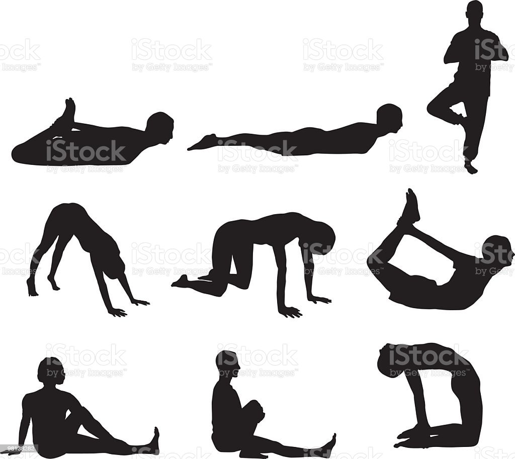 Exercise people - Yoga royalty-free exercise people yoga stock vector art & more images of 25-29 years