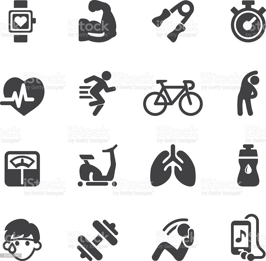 Exercise Silhouette icons | EPS10 vector art illustration