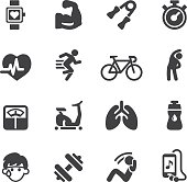 Exercise Silhouette icons   EPS10