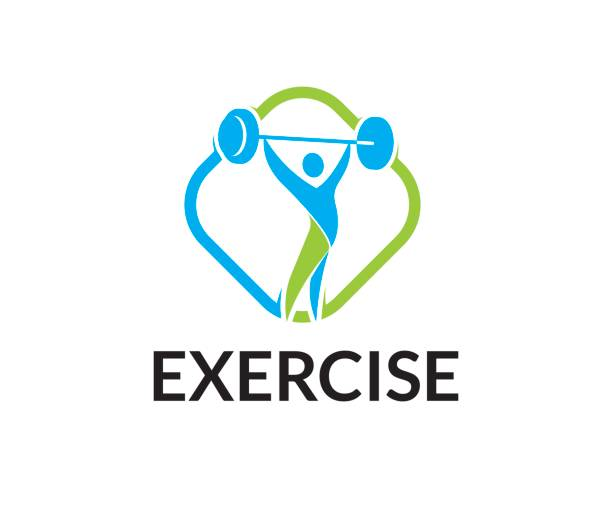 exercise vector icon - personal trainer stock illustrations, clip art, cartoons, & icons