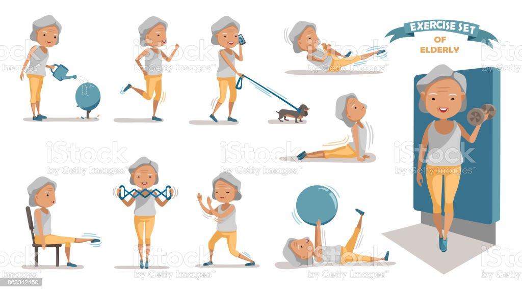 Exercise vector art illustration