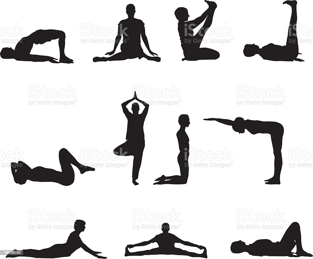 Exercise Yoga royalty-free exercise yoga stock vector art & more images of 25-29 years