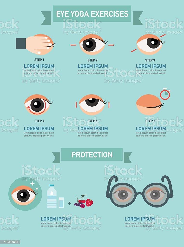 Exercises for eyes,infographic,illustration vector art illustration