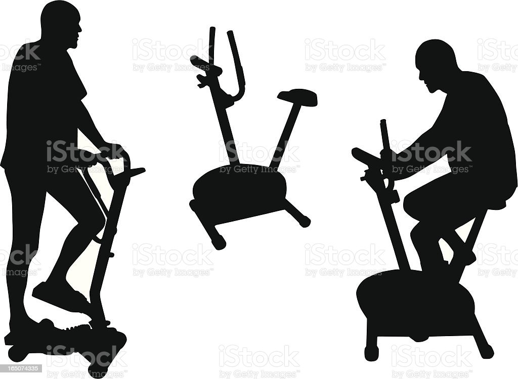 Exercising royalty-free exercising stock vector art & more images of adult
