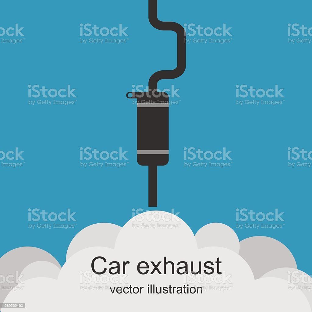 Exhaust car – Vektorgrafik