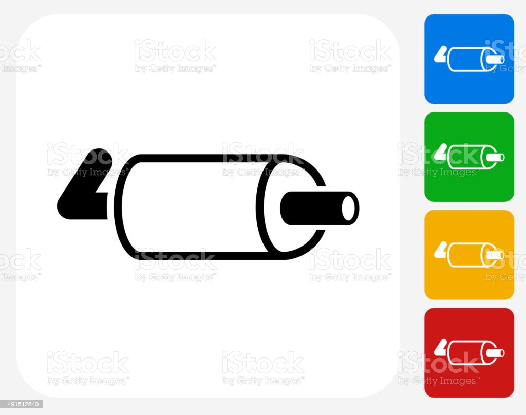 Exhaust Pipe Icon Flat Graphic Design Stock Illustration Download Image Now Istock