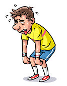 istock Exhausted Jogger Gasping for Air 1327953314