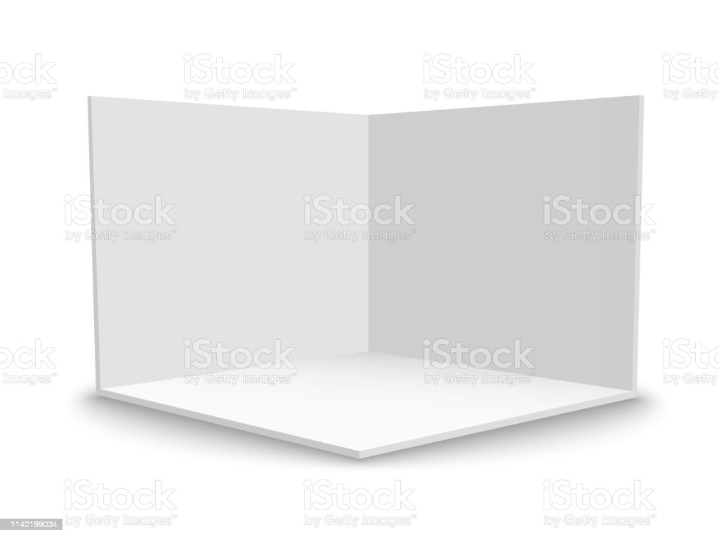 Exhibition Booth Blank : Exhibition booth for presentation counter screen vector white
