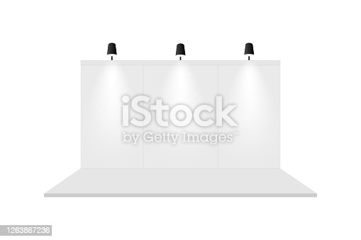 istock Exhibition booth template background. Vector eps10 1263867236