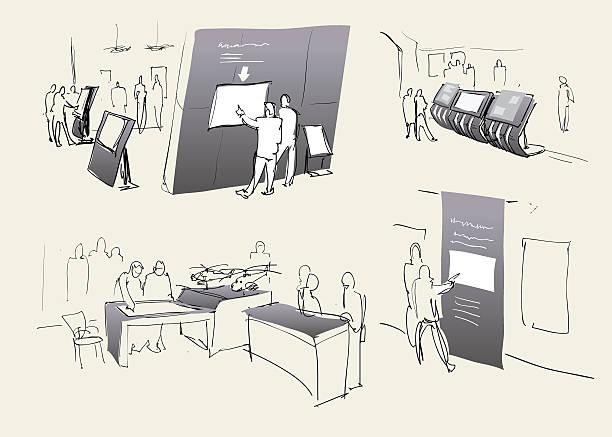 展示会、展示ホールにます。tm - 展示会点のイラスト素材/クリップアート素材/マンガ素材/アイコン素材