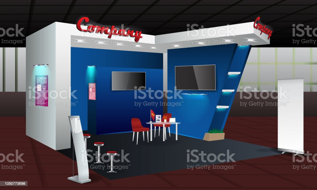 Exhibition Stand Mockup : Vector information booth exhibition stand mock up royalty free