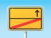 Exit City Blank German Road Sign