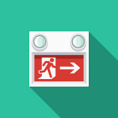 Exit Sign Flat Design Emergency Services Icon