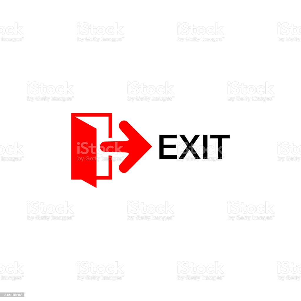 Exit Sign Stock Vector Art More Images Of Arrow Symbol 815218252