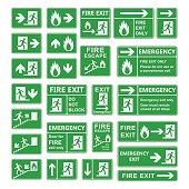 Exit sign vector set