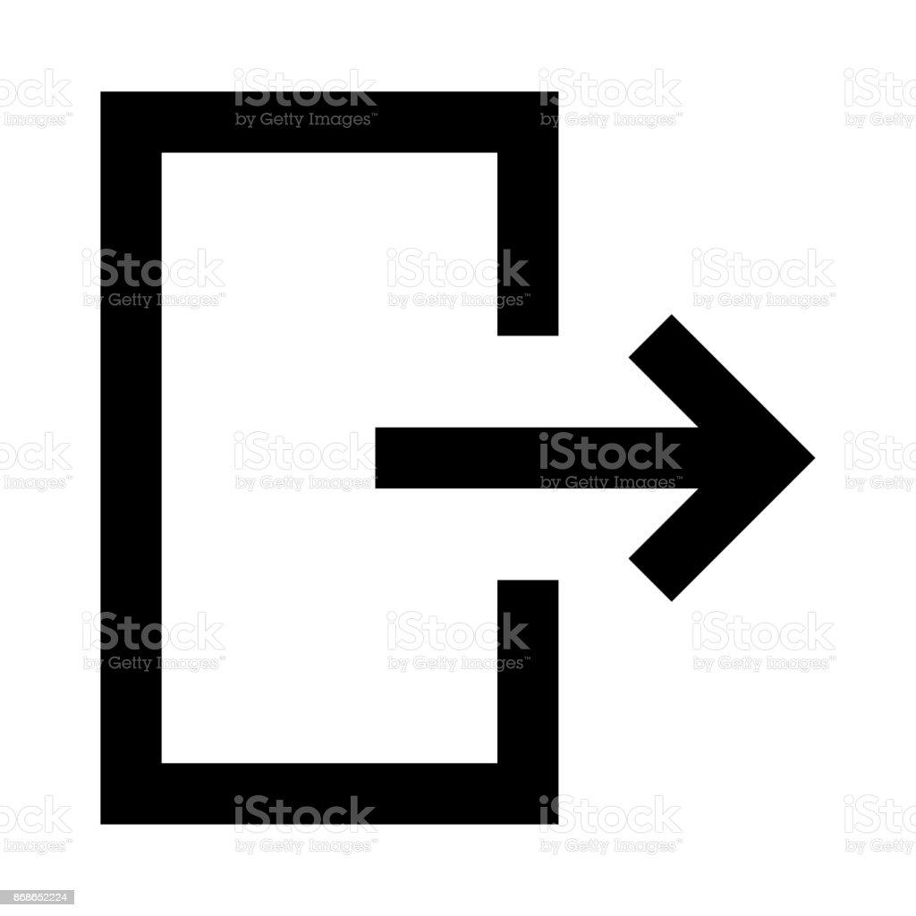 exit thin line vector icon