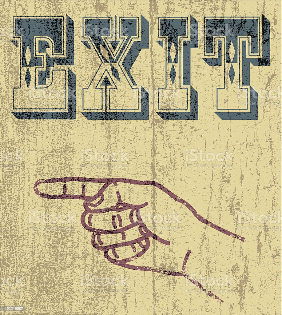 Exit royalty-free exit stock vector art & more images of computer graphic