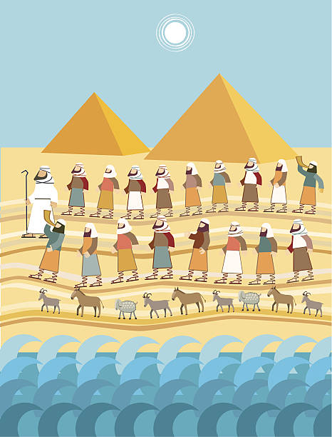 exodus, passover - passover stock illustrations, clip art, cartoons, & icons