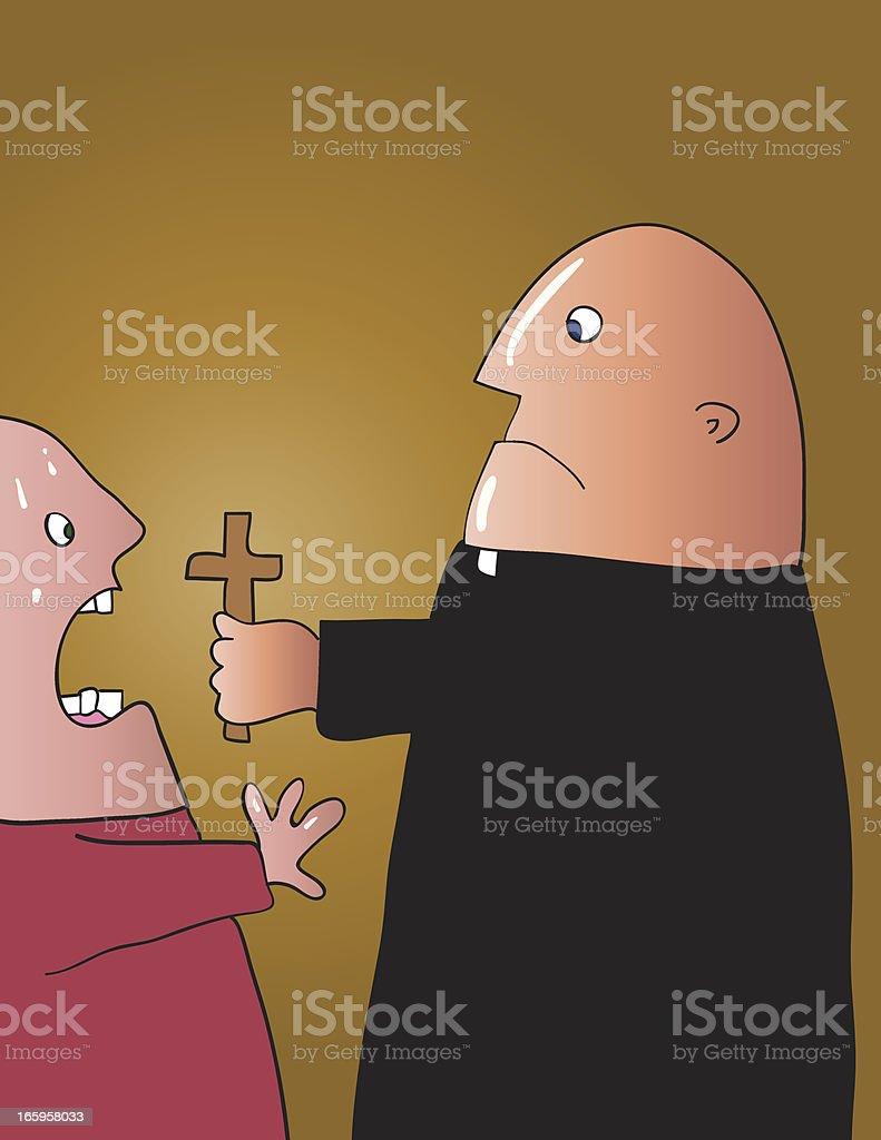 Exorcist vector art illustration
