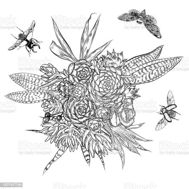 Exotic bouquet set with insects and bugs flying flowers floral with vector id1027427154?b=1&k=6&m=1027427154&s=612x612&h=tygyd5t 2myvtwz24x4vao2pd1ygwixwvenemmcdemu=