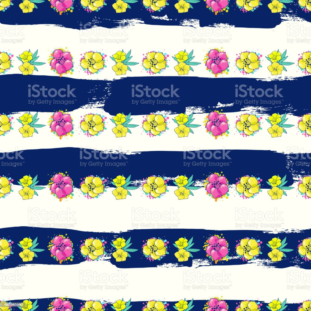 Exotic colorful flowers on a white-blue background with stripes royalty-free exotic colorful flowers on a whiteblue background with stripes 0명에 대한 스톡 벡터 아트 및 기타 이미지