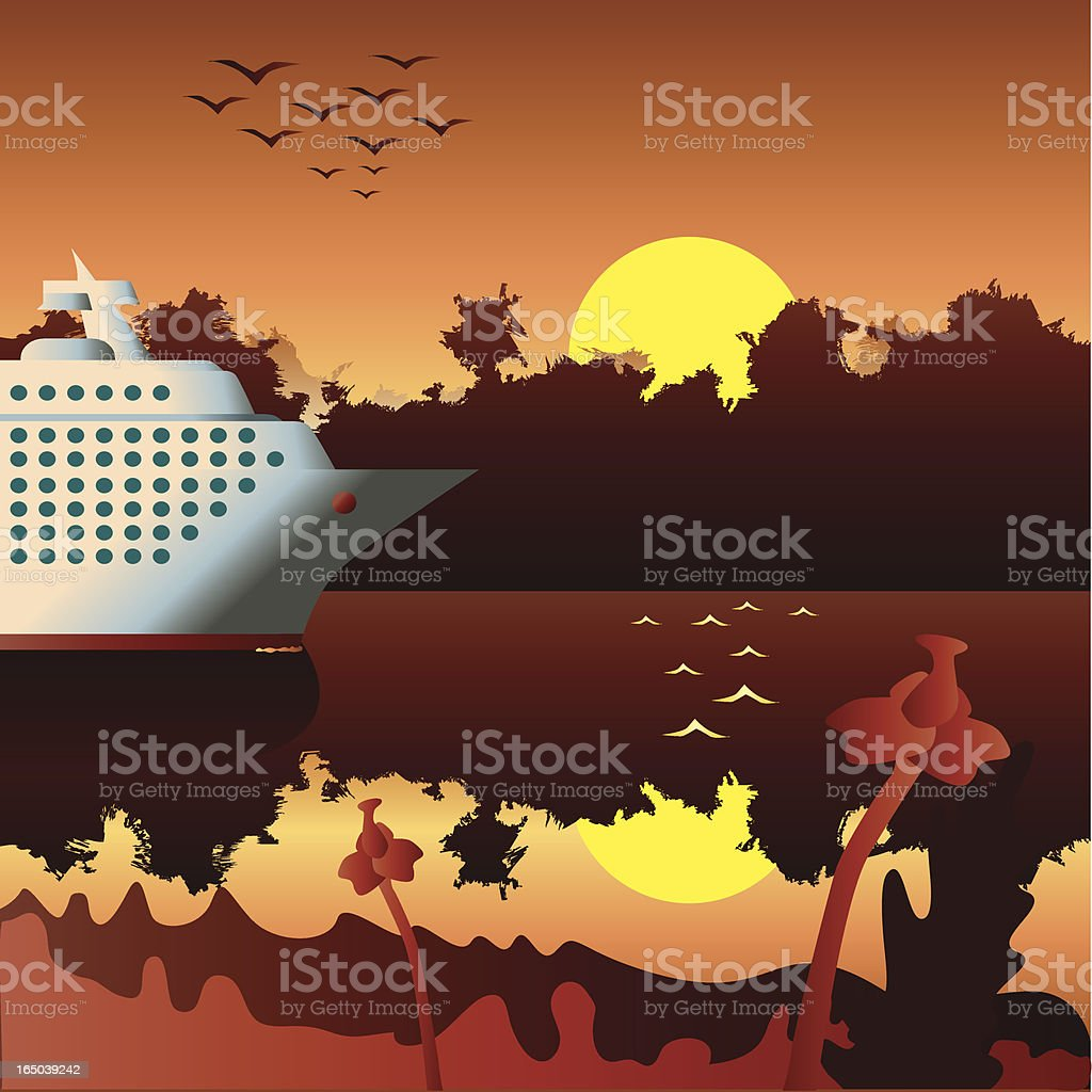 exotic cruise royalty-free stock vector art