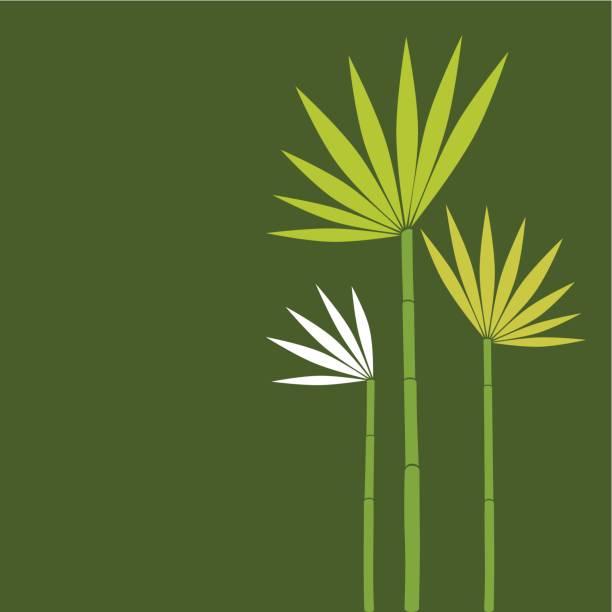 Exotic flower family vector art illustration
