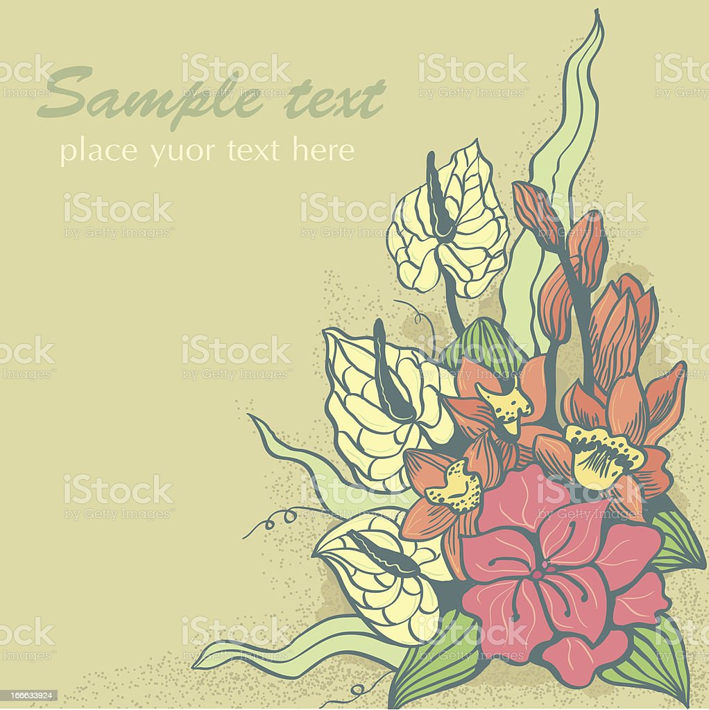 exotic flower royalty-free stock vector art
