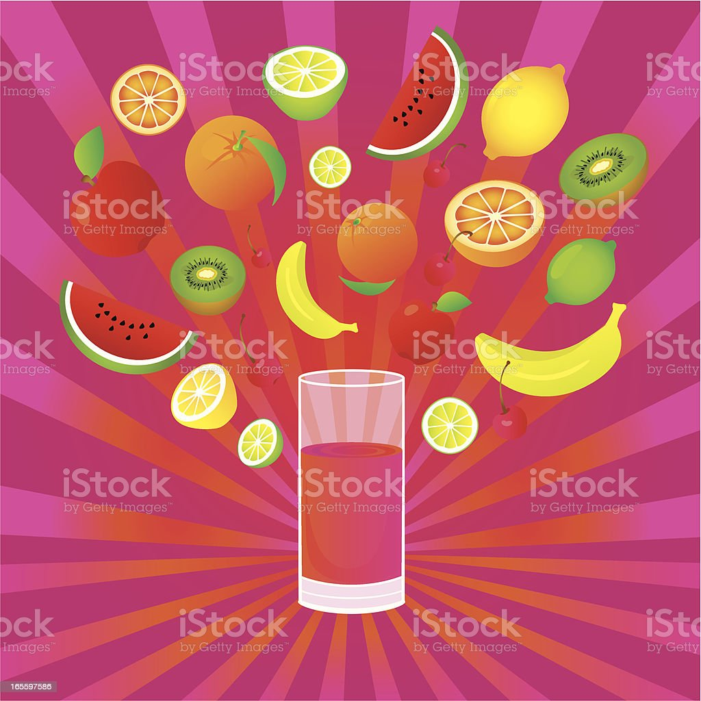 Exotic Fruit Drink royalty-free stock vector art