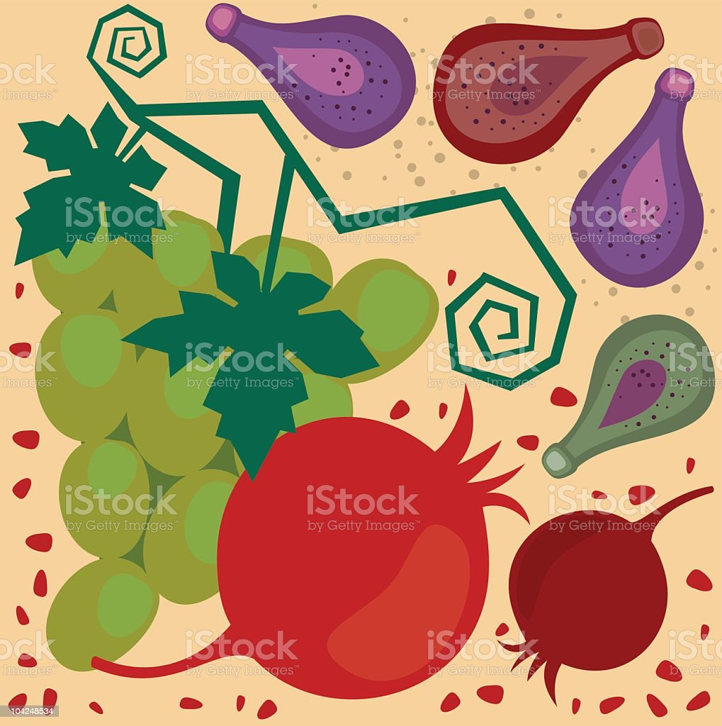 Exotic Fruit royalty-free stock vector art