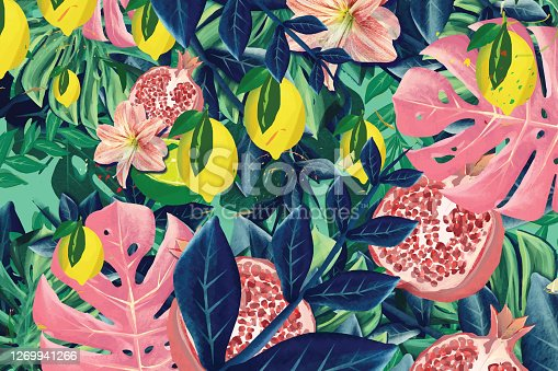 istock Exotic fruits  lemons and limes in vibrant colors 1269941266