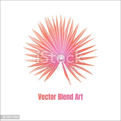 istock Exotic leaf vector 822851930