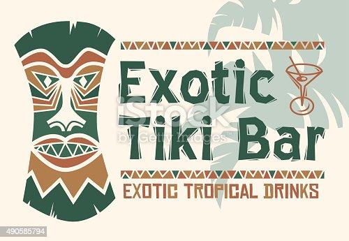 istock Exotic Tiki Bar 490585794