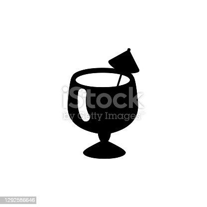 istock Exotic Tropical Drink vector icon. Isolated Cocktail flat emoji, emoticon symbol - Vector 1292586646